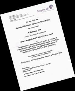 2016 HACCP Certificate