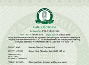 Halal Certificate 2019